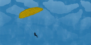 An image of a person paragliding