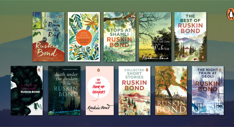 Celebrating Ruskin Bond with his books for grown-ups!