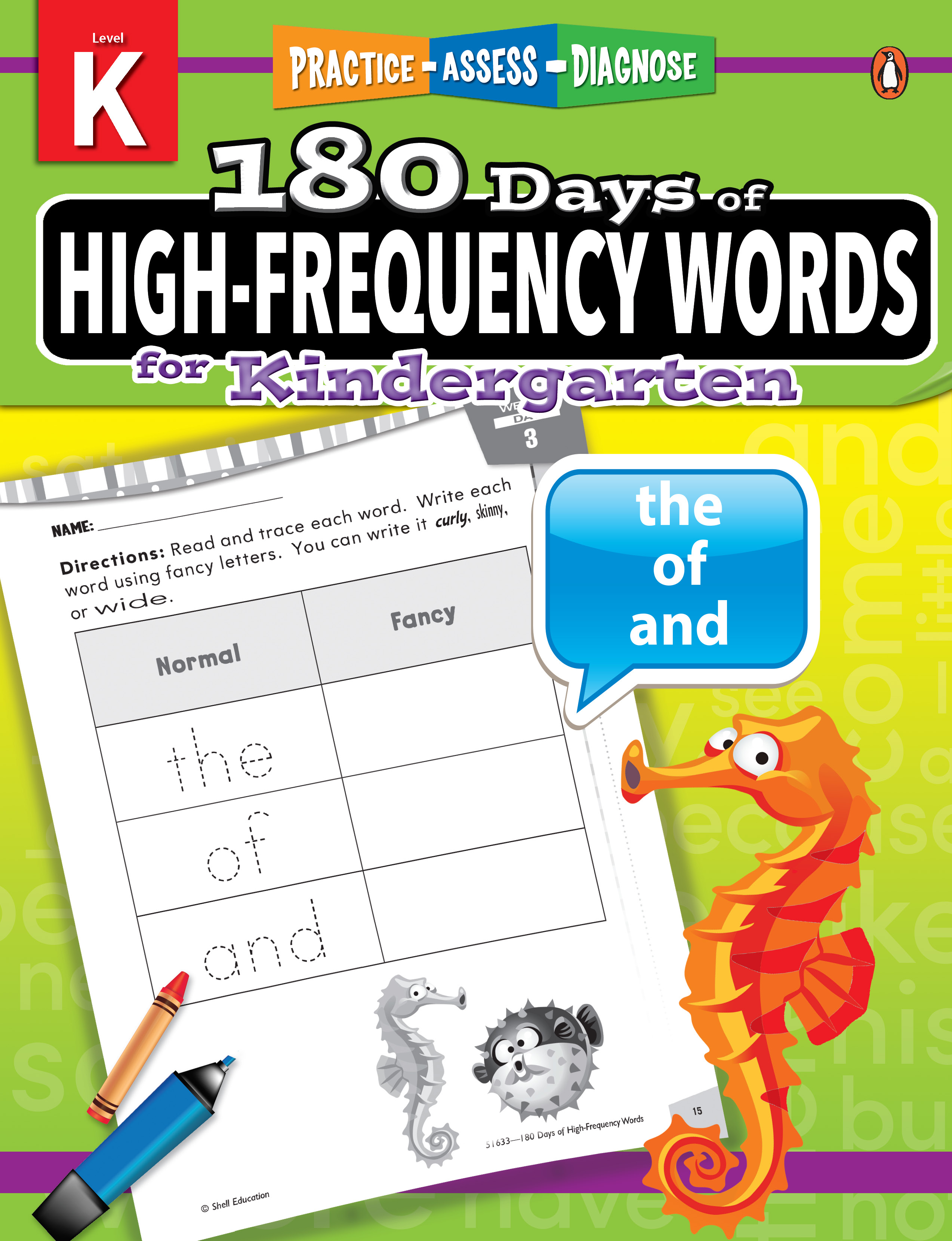 180 Days of High-Frequency Words Grade Kindergarten