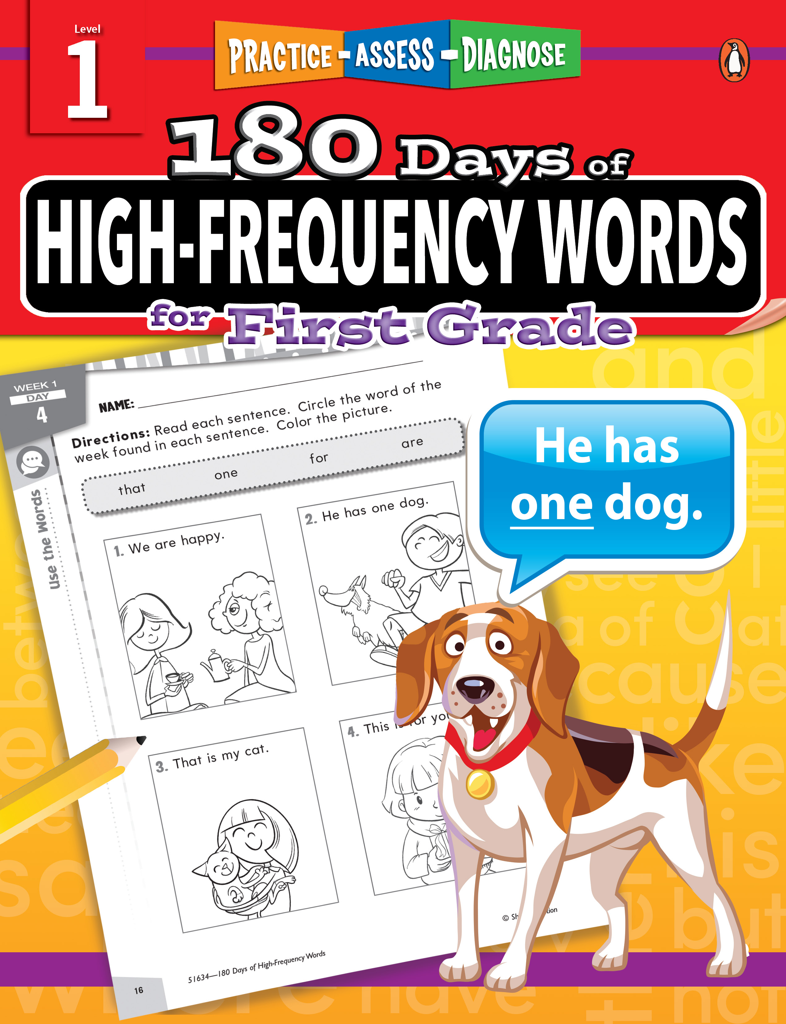 180 Days of High-Frequency Words Grade 1